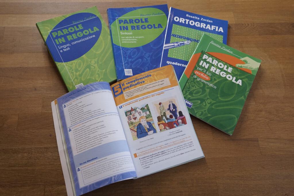volumi di grammatica - progetto e copertine