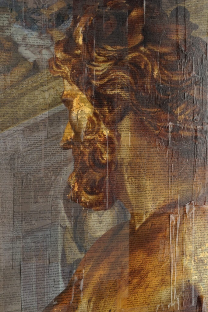 Genova, Il contemplatore di meraviglie - dettaglio, 140x150 cm