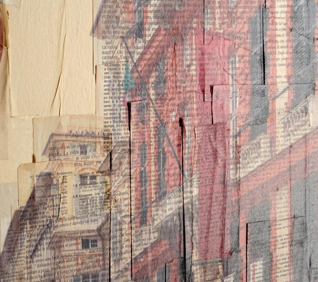 Il fauno cantastorie - dettaglio, 120x110 cm
