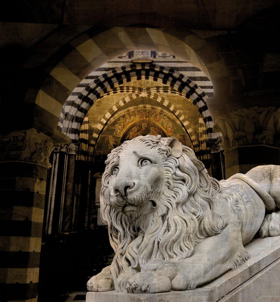 Il leone pio, 140x130 cm
