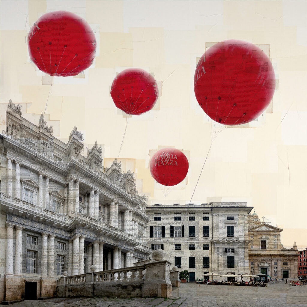 Genova, Il viaggiatore immobile, 130x130 cm