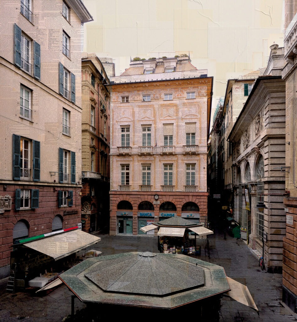 Piazza delel patelle, 130x120 cm