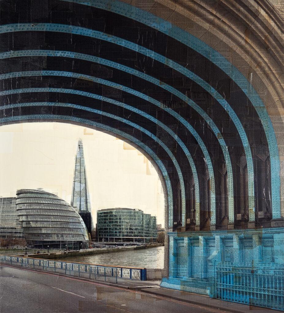 Londra, Fra parentesi, 140x130 cm