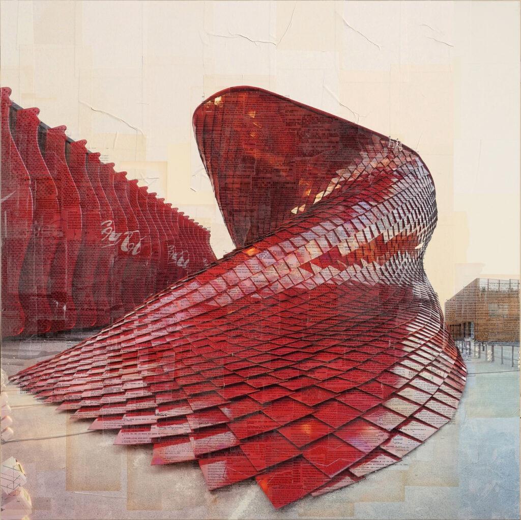Milano Expo, Il sauro goloso, 130x130 cm