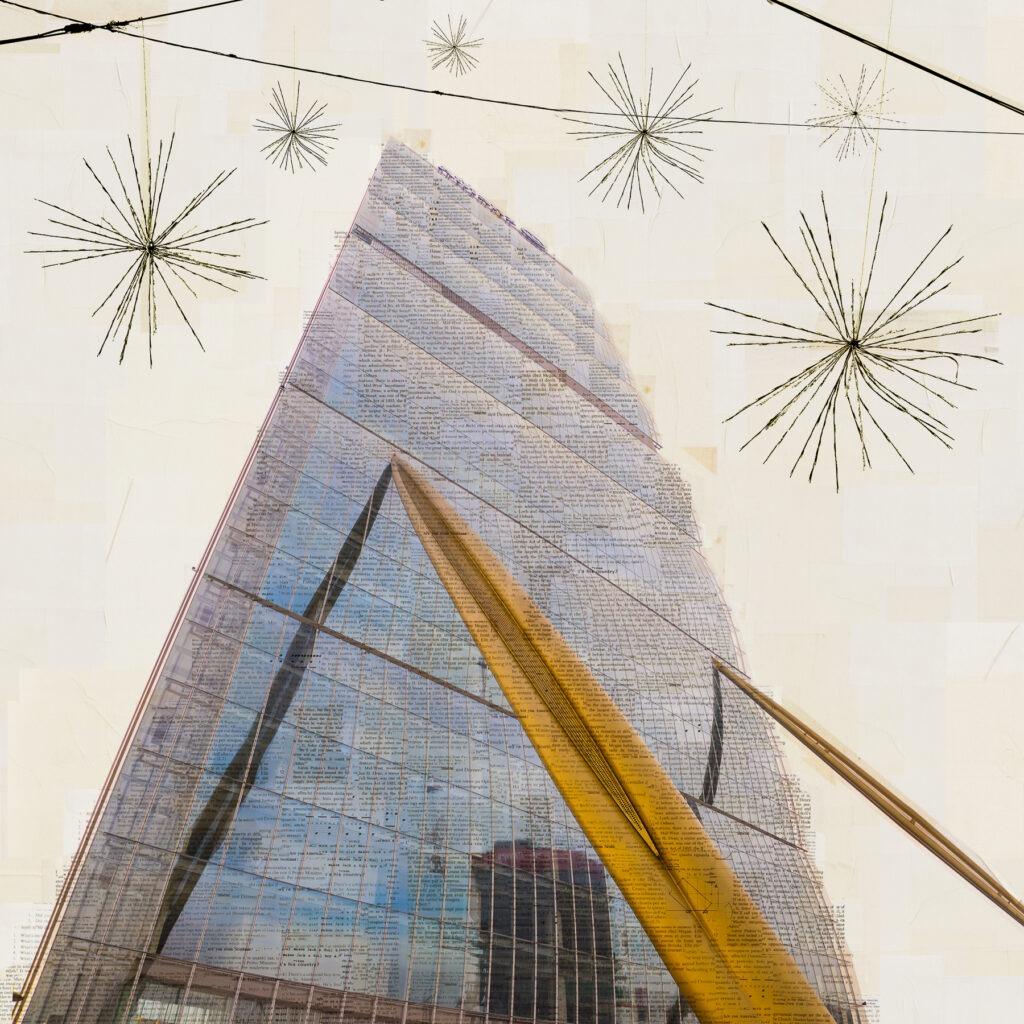 Milano, Il lanciatore di asterischi, 130x130 cm
