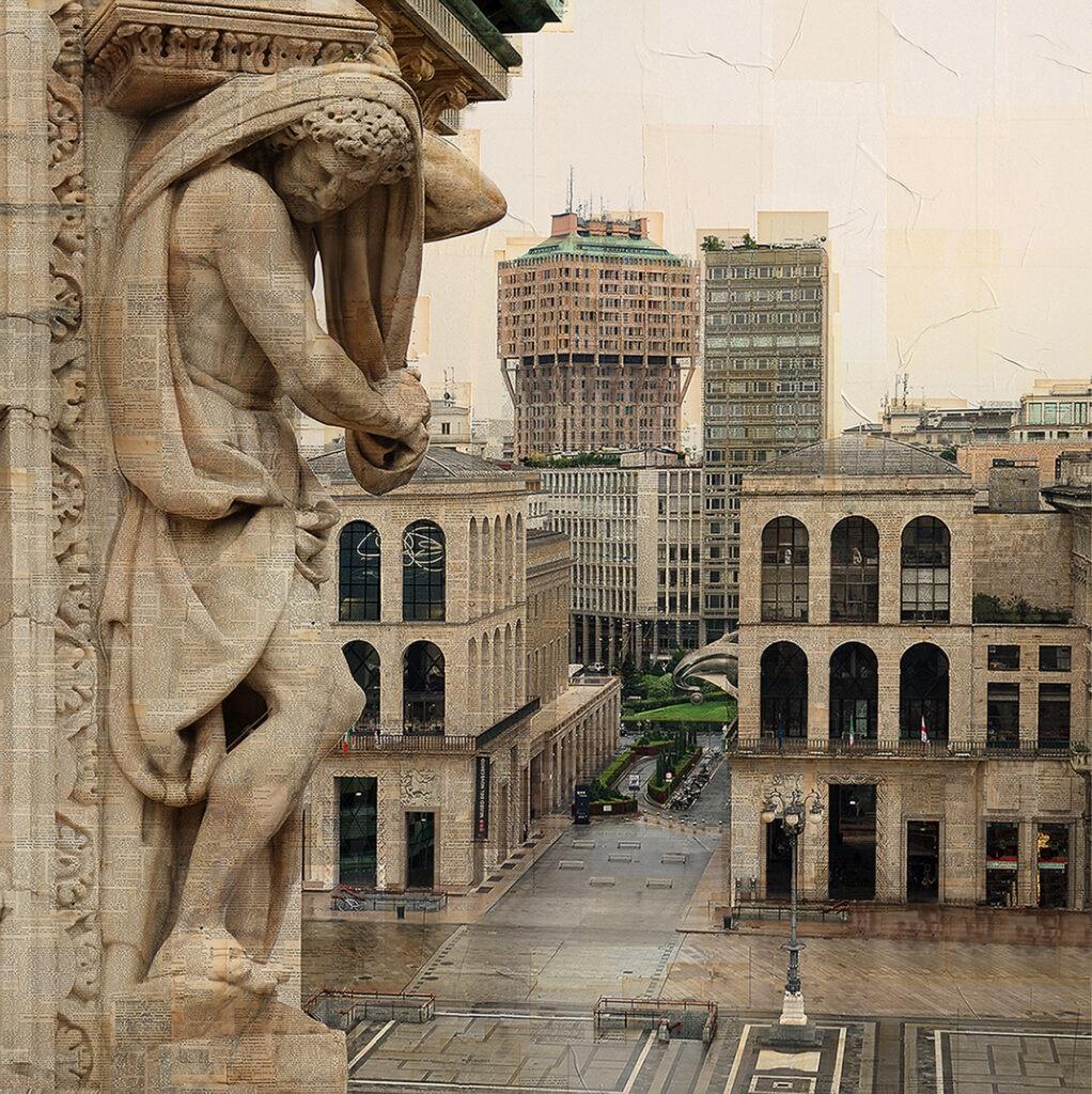 Milano, Scunduu ma minga trop, 100x100 cm