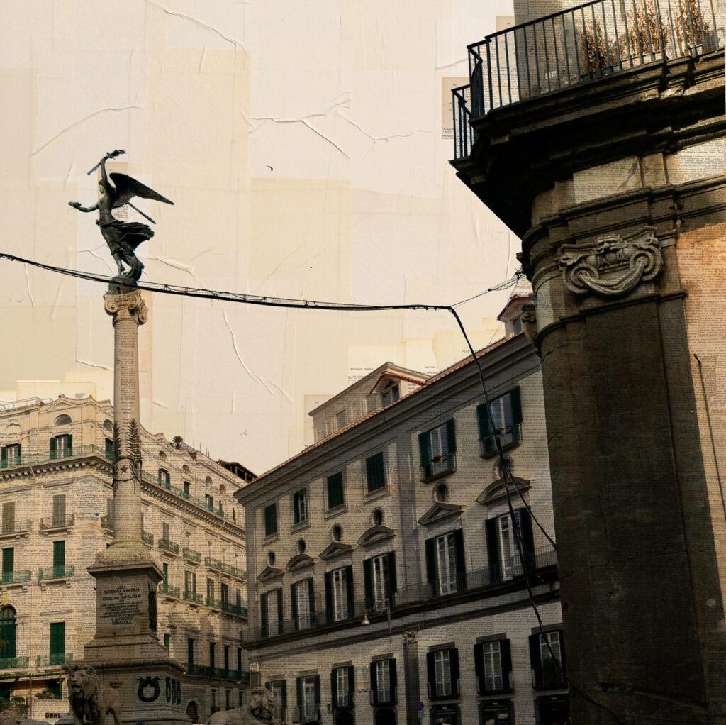 Napoli, Il funambolo, 100x100 cm