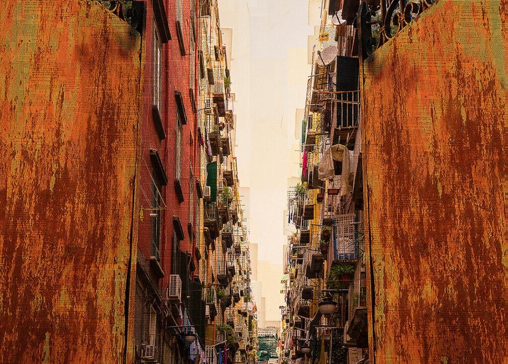 Napoli, The split, 100x150 cm