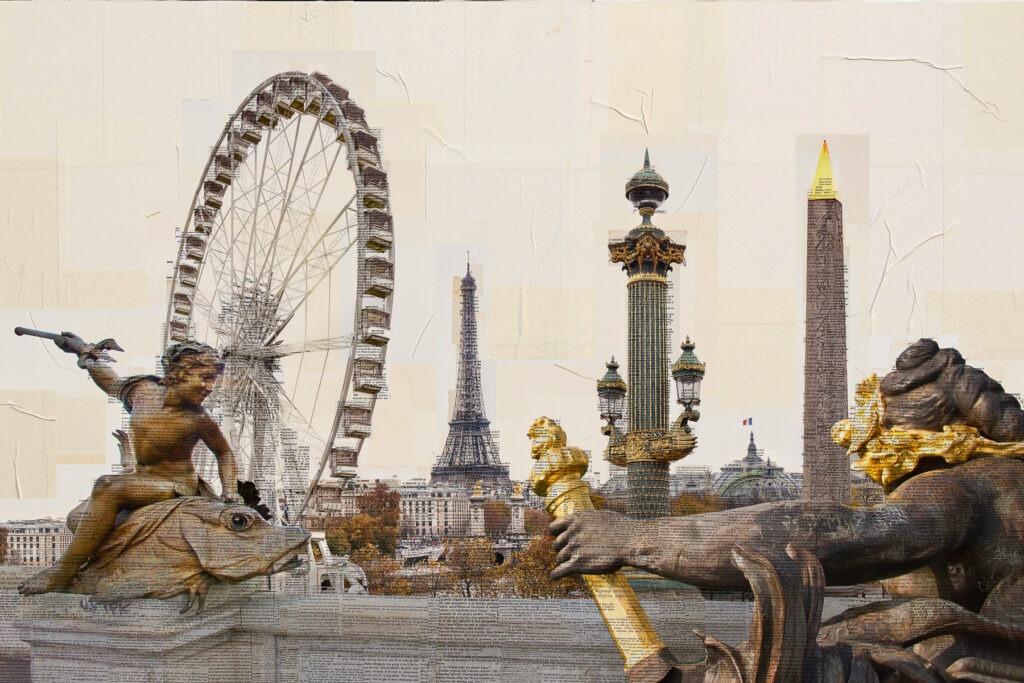 Parigi, I piantaori di monumenti, 100x150 cm