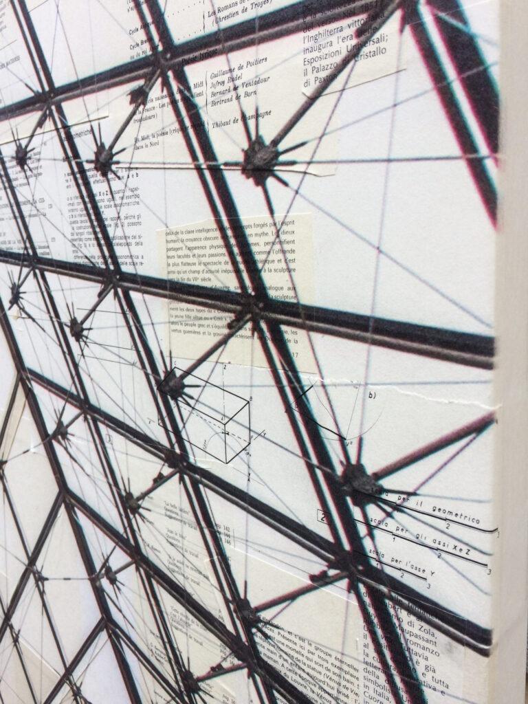 La volière - dettaglio, 130x130 cm