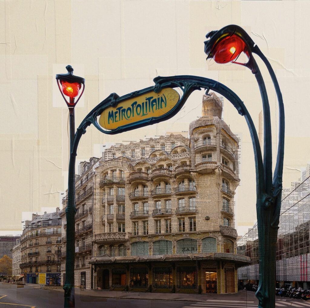 Parigi, Lanterne rosse, 100x110 cm, euro 3.200
