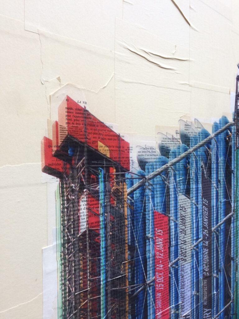 Parigi, Organo architettonico - dettaglio, 150x170 cm