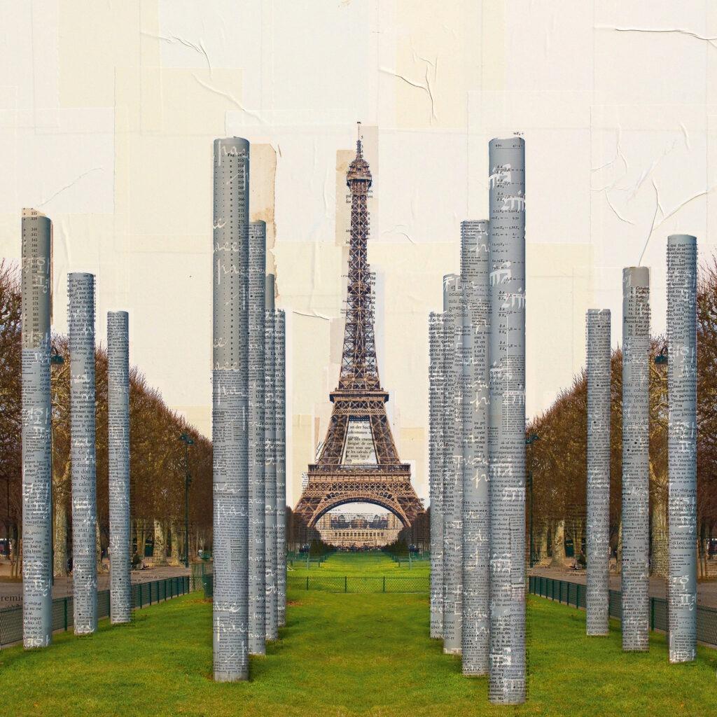 Paralleli alla pace, 120x120 cm