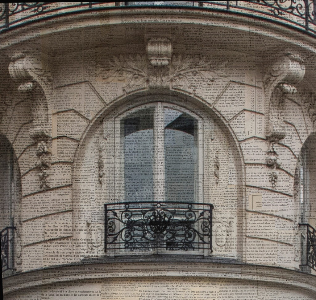 Parigi, Rue Simon de Crubellier n11 - dettaglio, 20x20 cm