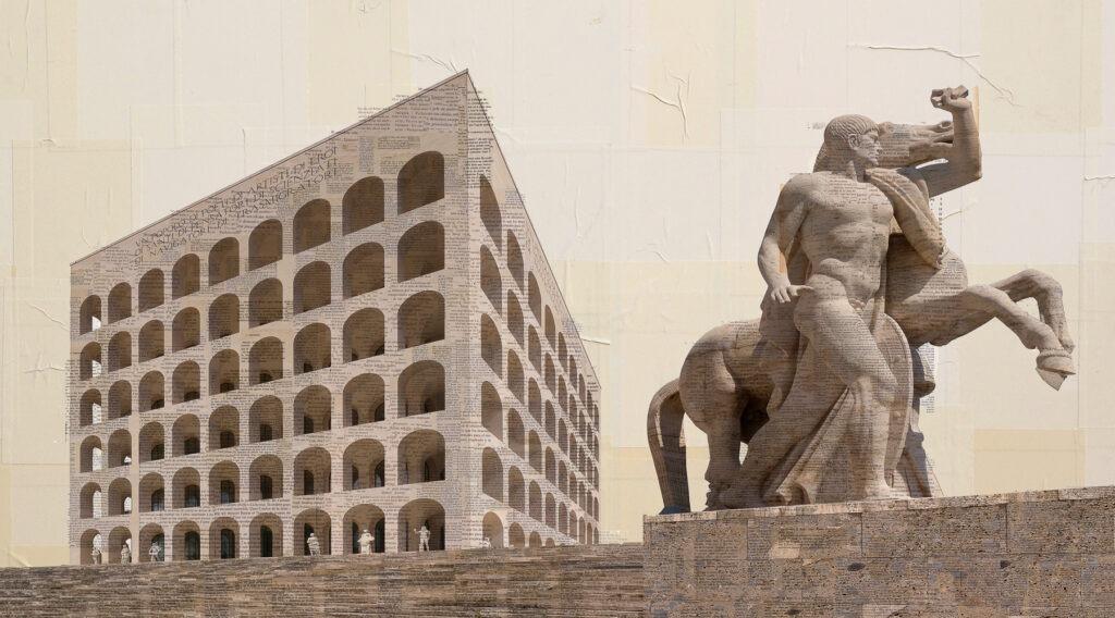 Roma Eur, Il trascinatore di masse, 150x270 cm