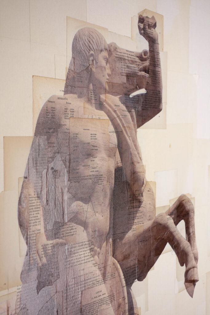 Roma Eur, Il trascinatore di masse - dettaglio, 150x270 cm