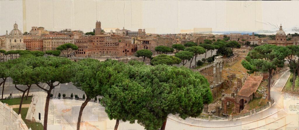 Roma, Fiume archeologico, 100x220 cm