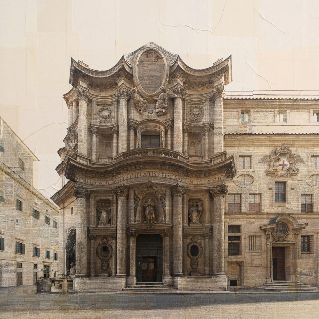 Roma, San Carlo alla quattro fontane, 100x100 cm