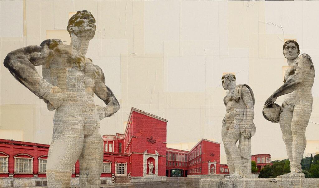 Roma, Stadio dei marmi, I colossi #2, 100x200 cm
