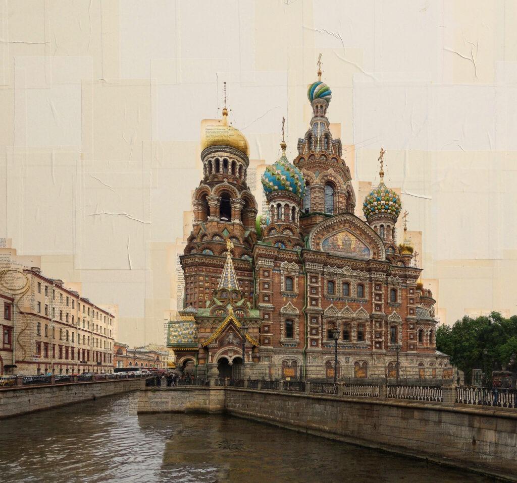 San Pietroburgo, Chiesa del Salvatore sul Sangue Versato, 100x100 cm