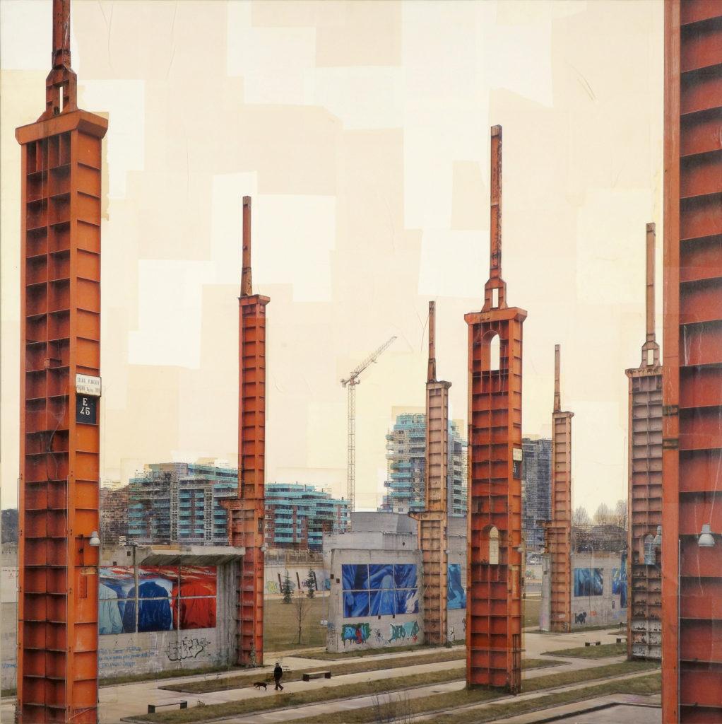 Torino, La città che sale, 130x130 cm