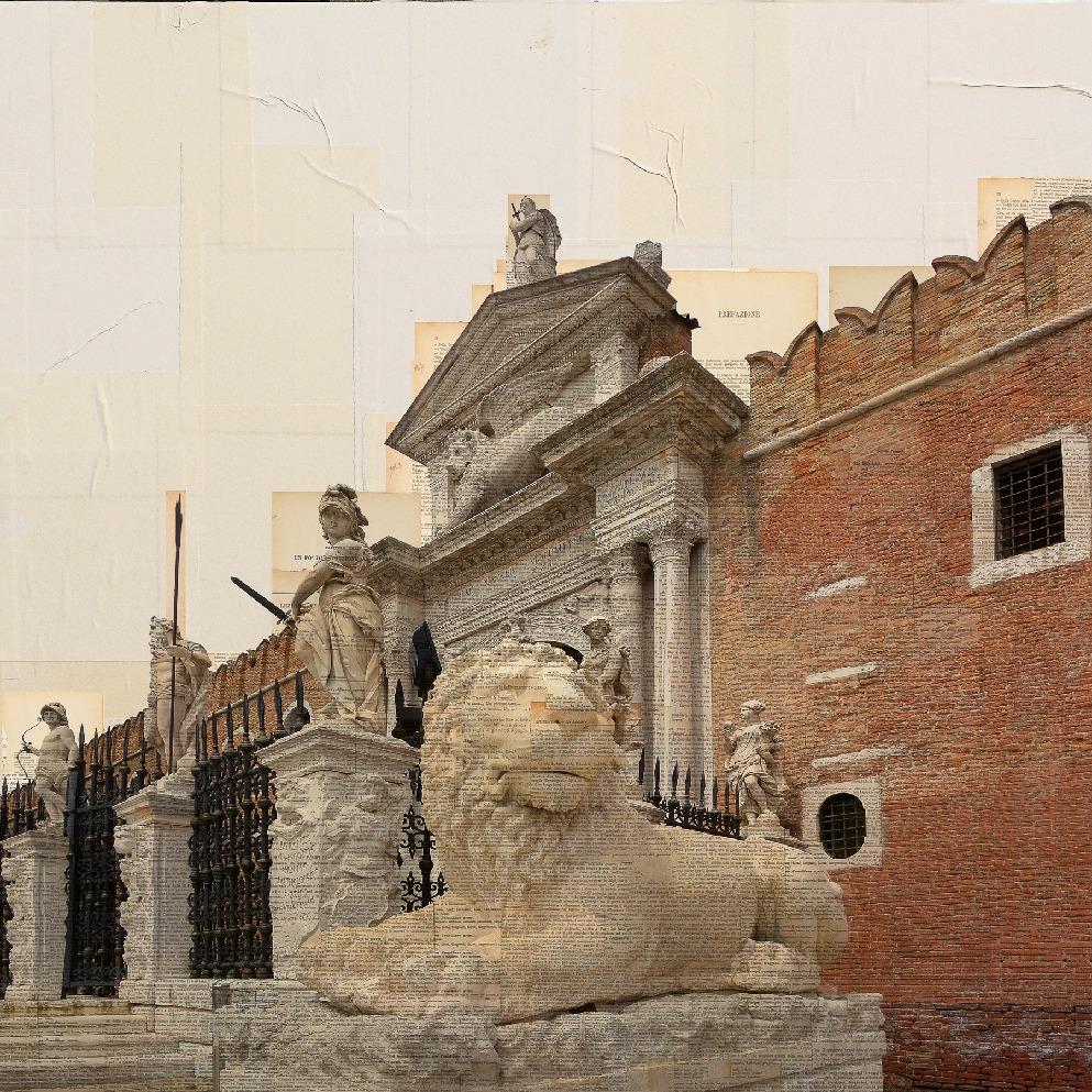Venezia, I Guardiani, 100x100cm
