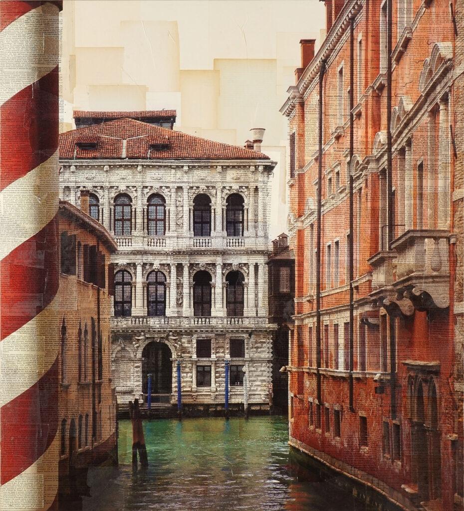 Venezia, Rivelato da quinte veneziane, 110x100 cm