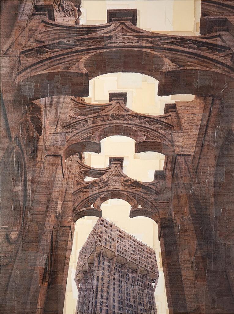 Milano, Carola Marmorea per giovane architettura, 160x110 cm