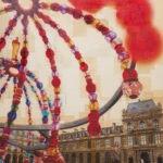 Parigi, Il corteggiamento, 130x130 cm