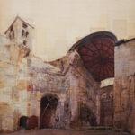 Genova, A messa finita, 120x120 cm