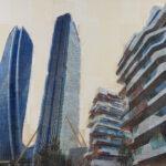 Milano, Nuove verticali, 110x120 cm