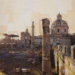 Roma, Osservatore di albe perenni, 100x100 cm