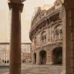 Genova, Fra le curve del tempo, 165x80 cm